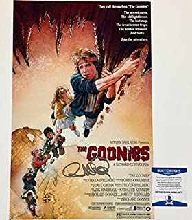 RICHARD DONNER Auto GOONIES Signed 11x17 Movie Poster Photo BAS Beckett COA (a)