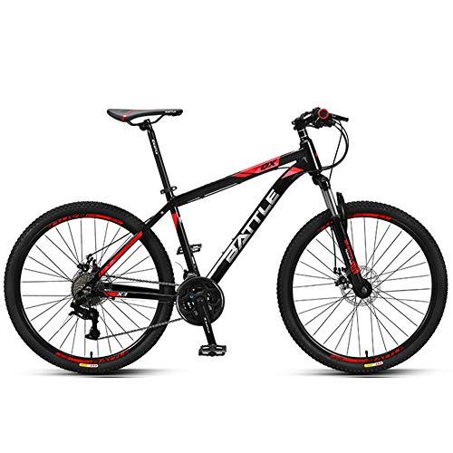Nengge Mountainbike, 26 inch, 27 versnellingen, voor jongens en meisjes, hardtail mountainbike, aluminium frame, schijfremmen vooraan