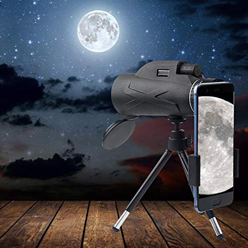 Affordable JUNword Professional Monocular Telescope for Mobile Phone Night Vision 80X100 Handheld HD...
