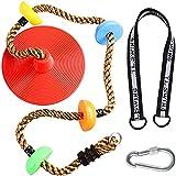 lefeindgdi Cuerdas de escalada de gimnasio para entrenamiento, columpio para niños, columpio con plataforma y disco, juego de juegos al aire libre