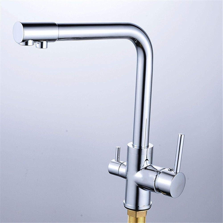 All-Kupfer-Blei-Free-Hahn-Küche-Hahn Kaltwasser-Mixer Kitchen Sink Tap Doppel-behandelter verchromt 7-Type