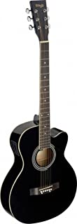 Stagg SA20ACE BLK Auditorium Cutaway Acoustic-Electric Guitar - Black