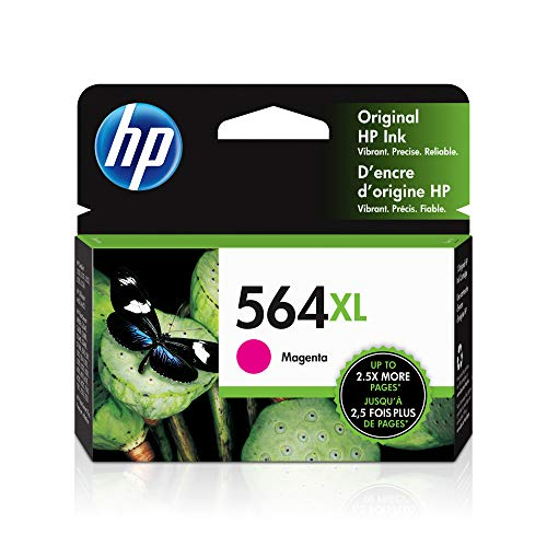 HP 564XL | Ink Cartridge | Magenta | Works with HP DeskJet 3500 Series, HP Officejet 4600 5500 C6300 6500 7500 Series, B8550, D7560, C510, B209, B210, C309, C310, C410, C510 | CB324WN