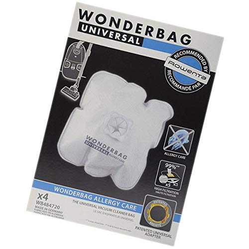 Rowenta WB484720 - Caja de 4 bolsas de microfibra universales (52358-34846)