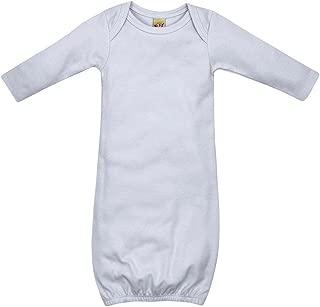 Kavio! Unisex Infants Interlock Lap Shoulder Long Sleeve Gown
