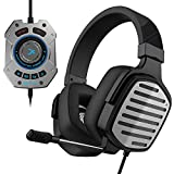 XIBERIA V20 Gaming Headset with USB Port and 7.1 Surround Sound, LED Light, Mic and Soft Earmuffs...
