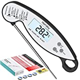 Homasy CP192B, IP67 Waterproof Digital Cooking Thermometer, 2s Instant Read with Backlight Display