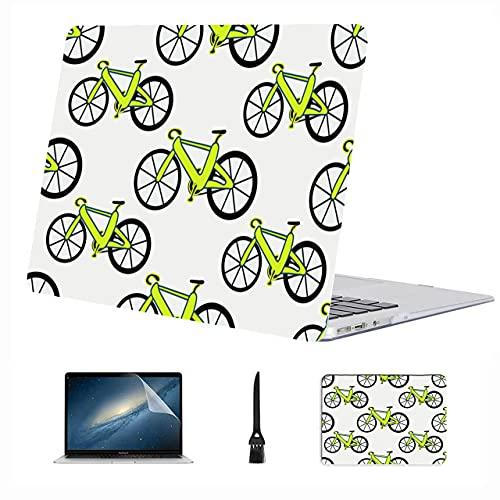 Accesorios para Macbook Pro Rueda de Bicicleta Juego de Ciclismo Deporte Plástico Carcasa rígida Compatible Mac Air 13'Pro 13' / 16'Accesorios para Libros de Mac Cubierta para 2016-2020 Versión