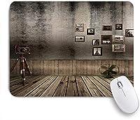 ZOMOY マウスパッド 個性的 おしゃれ 柔軟 かわいい ゴム製裏面 ゲーミングマウスパッド PC ノートパソコン オフィス用 デスクマット 滑り止め 耐久性が良い おもしろいパターン (ヨーロピアンスタイルの香りノスタルジックなレトロな装飾的なテーブル敷居幾何学模様木の床)