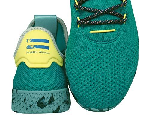 adidas Originals Pharrell Williams Tennis HU Hombre Zapatillas -Green-36.67