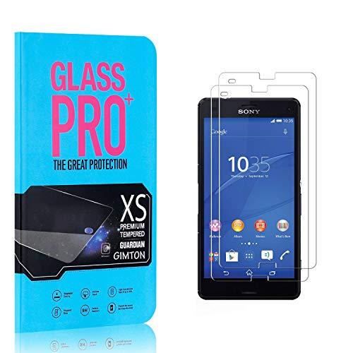 GIMTON Displayschutzfolie für Sony Xperia Z3 Compact, 9H Härte HD Schutzfolie aus Gehärtetem Glas für Sony Xperia Z3 Compact, Blasenfrei, Anti Fingerabdruck, 2 Stück