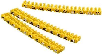 260 Stks 4mm Letter A-Z Kabel Markers Geel Marker Letter Tag Label voor 2-3mm Draad
