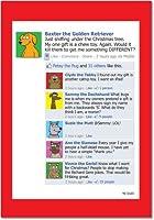 犬FacebookクリスマスFunny Paperカード 12 Christmas Card Pack (SKU:B1521)