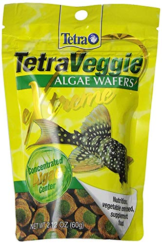 Tetra PRO PlecoWafers 2.12 Ounces, Nutritionally Balanced Vegetarian Fish Food, Concentrated Algae...