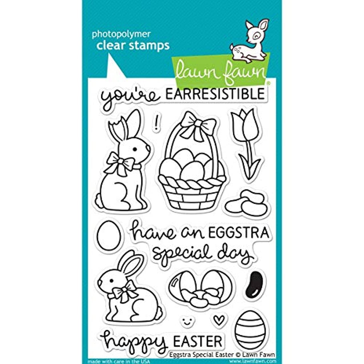 Lawn Fawn Clear Stamps LF840 Eggstra Special Easter