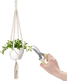 TOLTOL Garden Shears Gardening Set,Tools Bypass Pruning Shears Plant Hangers Hanging Planter Basket for Trimming Plants & Decorating Families Garden