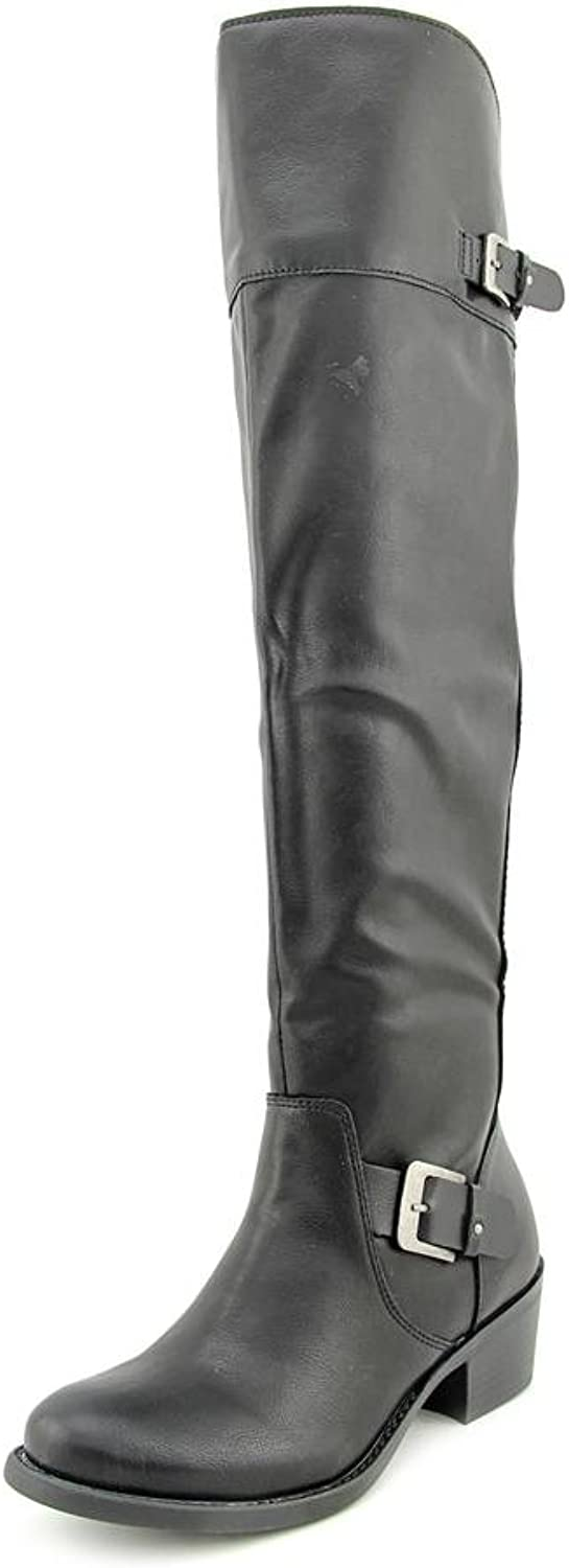 Style & Co.. Womens Kimby Almond Toe Over Knee Fashion Boots, Black, Size 7.0