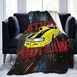 Street Outlaw Camero Promod-Manta suave y cómoda, fina y cálida impresión de franela, antipilling 4 estaciones, universal, para adultos y niños, 150 x 50 cm, para adultos