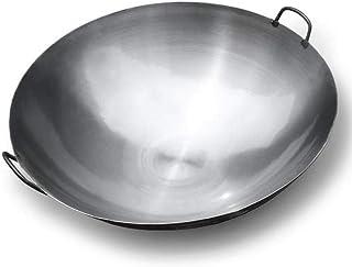 XHNXHN Wok Hotel Chef Spécial Grand Wok Maison 50Cm Binaural Grand Pot De Fer Vintage Traditionnel Extra Large Cuit Pot De...
