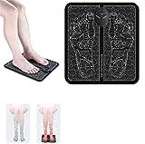 OHYONIZ EMS Leg Reshaping Foot Massager, Masseur de stimulateur d'acupuncture de Pieds de Coussin de Massage électrique des Pieds EMS, Tapis de Massage électrique portatif Pliant  (Battery)