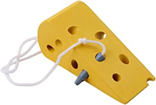 LJSLYJ モンテッソーリ 教育 キャタピラー 食べる のチーズのフルーツおもちゃ 幼児と子供 木製 早期 知育玩具(チーズ)