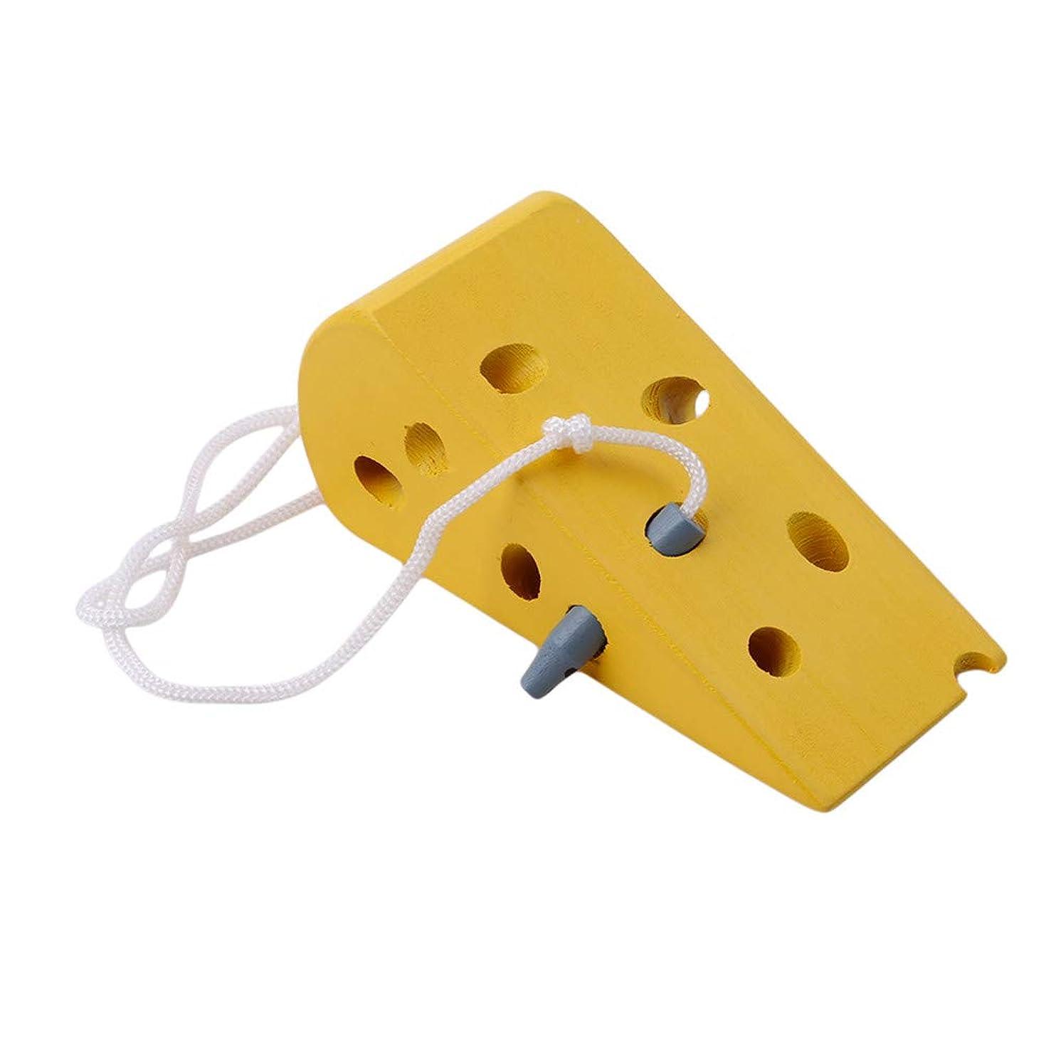 テニスカレンダー丁寧LJSLYJ モンテッソーリ 教育 キャタピラー 食べる のチーズのフルーツおもちゃ 幼児と子供 木製 早期 知育玩具(チーズ)