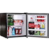 Mini Fridge,1.7 Cu.Ft. Small Refrigerator,Energy Star Small Fridge,One-touch Easy Defrost,6 Temperature Settings,Low Noise, Retro Compact Refrigerator for Bedroom,Office,Dorm,Basement (Black)