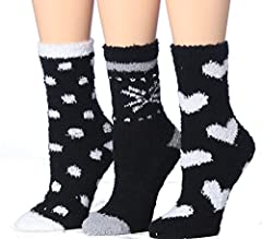 STRETCHY: Fits shoe size 6-9 (sock size 9-11) NON-SKID: silicone grips on the bottom of the sock reduce slippage on smooth floors and ensures a secure no-slip fit in your slippers, shoes, or sneakers with a cozy feel . STAY WARM AND COMFY: Great for ...