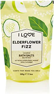 I Love Signature Elderflower Fizz Natural Bath Salts Containing Natural Fruit Extracts, Muscles, Aches & Pains 500g