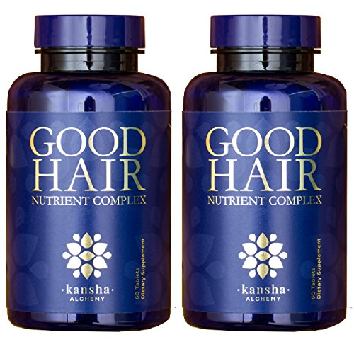 2-Pack Good Hair Growth Vitamins with DHT Blocker and 5,000 mcg Biotin to Stop Hair Loss in Men and Women - for Healthier Hair, Skin and Nails, 120 Tablets