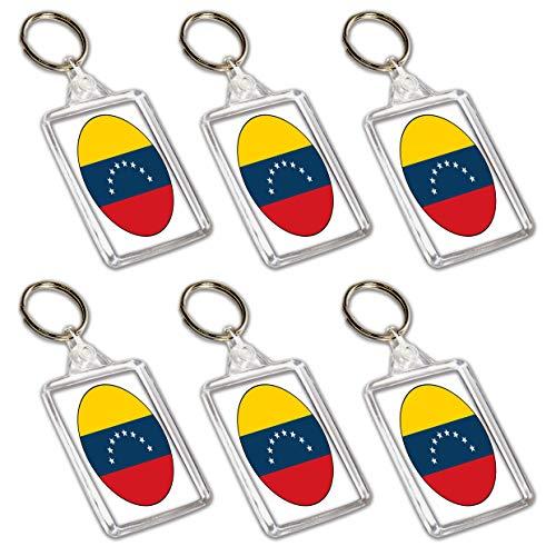 AK Giftshop Llaveros de la bandera de Venezuela – Relleno de bolsas de fiesta – Eventos – Celebraciones – coleccionistas – Decoraciones – Llenador de sellos (paquete de 12)