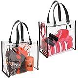 mDesign sac de voyage pour transport d'accessoires (lot de 2) – sac de plage pour produits de soins ou...