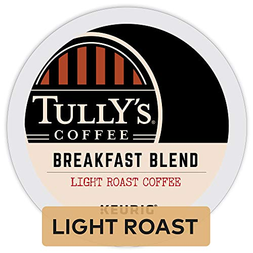 Tully's Coffee, Breakfast Blend, Single-Serve Keurig K-Cup Pods, Light Roast Coffee, 96 Count (4 Boxes of 24 Pods)