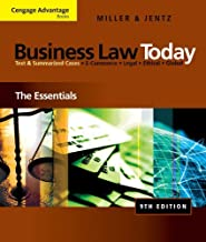 By Roger LeRoy Miller Bundle: Cengage Advantage Books: Business Law Today: The Essentials, 9th + WebTutor(TM) on Blackboar (9th Ninth Edition) [Paperback]
