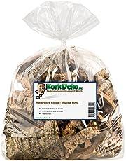 Kork-Deko 500 g korkbark   rengörs och saneras   (Rodent, reptil, dekoration, modell, järnväg landskap) korkträ träd ek