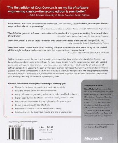 Code Complete: A Practical Handbook of Software Construction