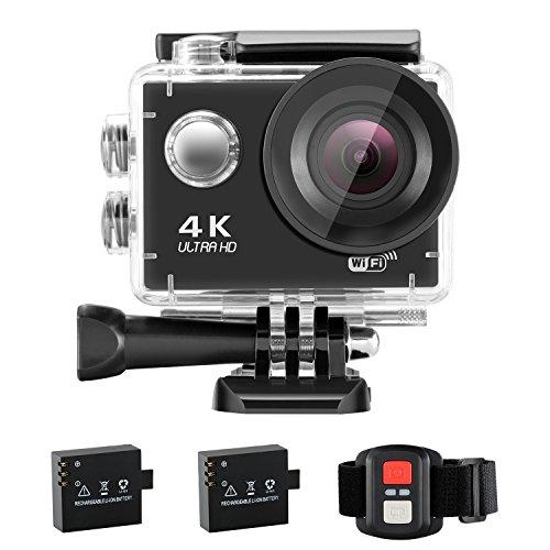NEXGADGET Action Cam 4K WiFi Impermeabile 16MP 170 Grado Lente...