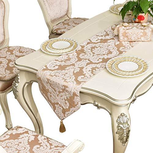 Tafelloper Chenille Jacquard stof Abstract Handgemaakte Artistic Top decor dining tafellopers Tafelkleed-4.20 (Size : 34 * 200cm)