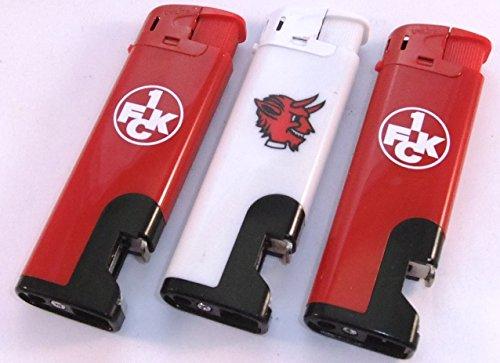 1. FC Kaiserslautern compatibel set van 3 aanstekers met flesopener navulbare flessenopener