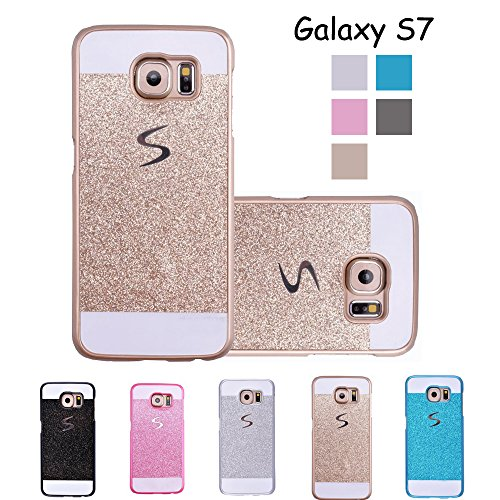 Galaxy S7 Case, GreenElec Luxury Beauty Diamond Hybrid Glitter Bling Shiny Sparkling with Crystal Rhinestone Hard PC Case Cover for Samsung Galaxy S7 (Gold)