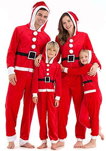 Hsctek Matching Christmas Onesie Pajamas Sets for Family, Christmas Santa Onesie for Toddlers Boys Girls, Holiday Funny Pajamas Pjs Sleepwear Boydsuit Kids