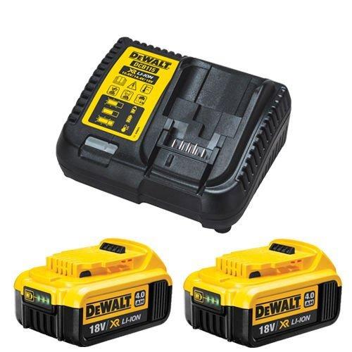 Dewalt 2 baterías DCB182 de 18 V de Iones de Litio de 4,0 Ah y Kit de Cargador DCB115, 18 V