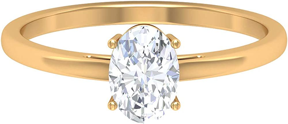 Solitaire Wedding Ring Max 86% OFF for Ranking TOP16 Engagement 1.45 6X8 CT D-VSSI