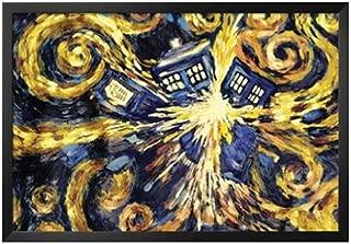 Doctor Who Exploding Tardis TV Posster - Professionally Framed Poster Art Print 24x36 on a Black Frame. Made in USA