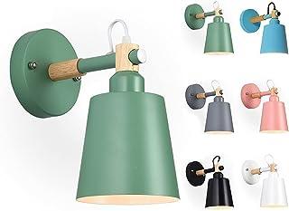 Applique Murale Intérieure En Fer Avec Base En Bois, Luminaire Applique Murale En Forme Pour Chambre D'Enfant,Applique Mur...