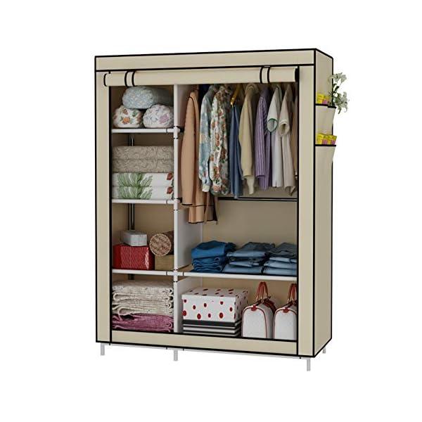 UDEAR Closet Organizer Wardrobe Clothes Storage Shelves, Non-Woven Fabric Cover with...