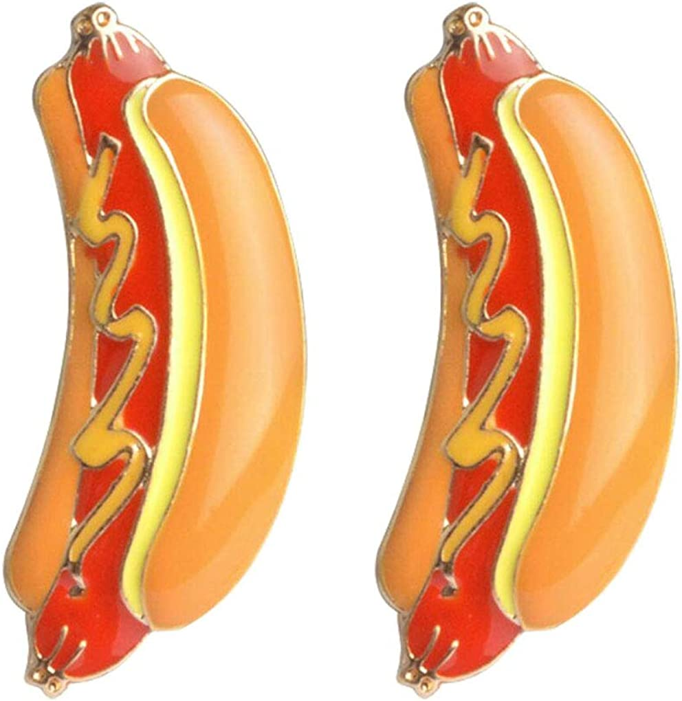 Charmart Hot Dog Lapel Pin 2 Piece Set Enamel Brooch Pins Accessories Badges Gifts