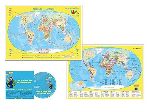 Weltreise Würfelspiel - mit Musik CD