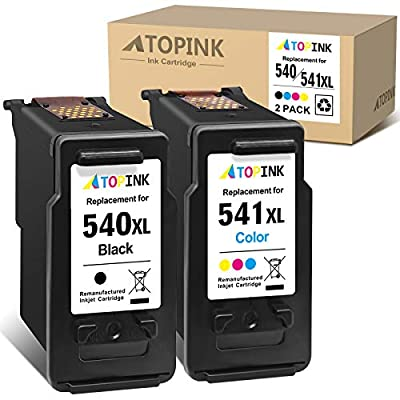 ATOPINK Remanufactured Ink Cartridge Replacement for Canon PG540XL CL541XL for Canon Pixma TS5150 TS5151 MG4250 MG3650 MX475 MX535 MG4200 MG3550 MX395 MG3600 MX375(Black Colour)