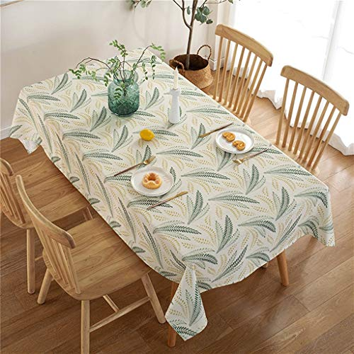 Paño de tela de oreja de trigo Paño de mesa de algodón y lino, tela de mesa de arte simple pastoral Hogar rectangular, adecuado para decoración del hogar, mesa de mesa de jardín, cena de fiesta de fie